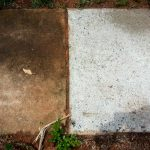 Commercial Concrete Sidewalk Side-by-Side