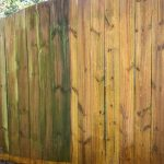 Wood Fence Cleaning Side-by-Side