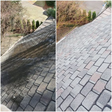 Our Soft-wash system is approved by Asphalt Roofing Manufacturers Association and GAF, so you can be assured it is the safest, most effective method of roof cleaning for all our customers here in North Georgia.