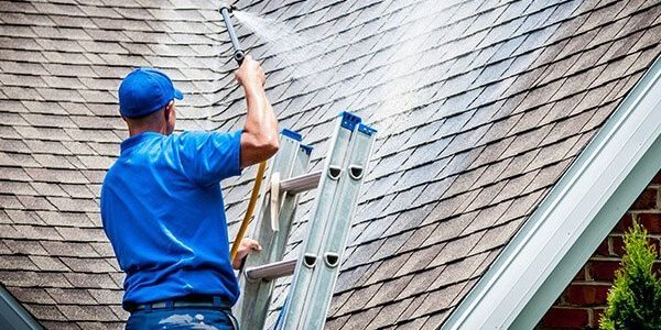 Roof Cleaning In Process 2